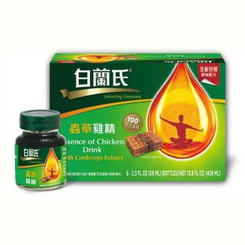 BRAND'S® Essence of Chicken Drink with Cordyceps (6 Bottles) 白蘭氏®蟲草雞精
