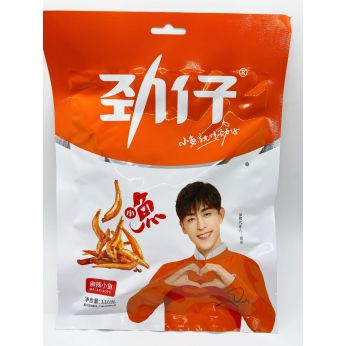 JINZAI Fried Fish(Hot Spicy Flavor) 110g 勁仔小魚(麻辣)