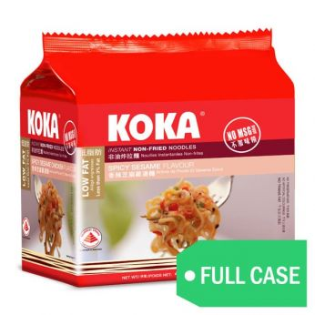 KOKA Spicy Sesame Flavor Non-Fried Instant Noodles (Case)