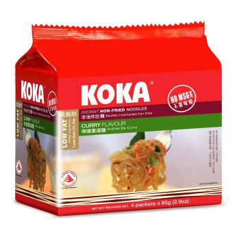 KOKA Curry Flavor Non-Fried Instant Noodles (5 PACK)
