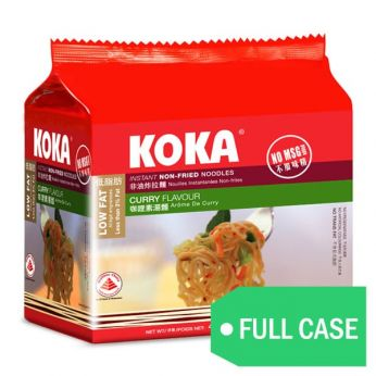 KOKA Curry Flavor Non-Fried Instant Noodles (Case)
