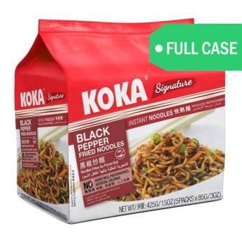 KOKA Black Pepper Fried Noodles Full Case (5 packs x 6) 30 Packs Total