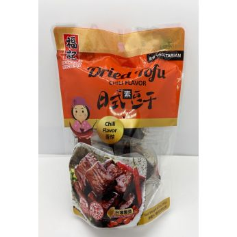 Fuche Dried Tofu Chili Flavor 190g 福記日式豆干 香辣 (Vegetarian素食)