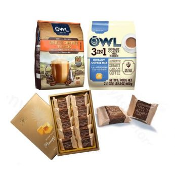 【Bundles】Isabelle Pineapple Cakes x 3 & OWL 3-IN-1 Instant Coffee and White Coffee